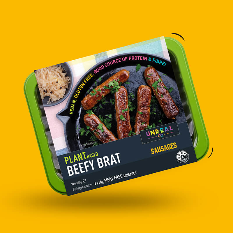 Unreal Co. Beefy Brat Sausages