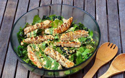 Vegan Chicken Caesar Salad